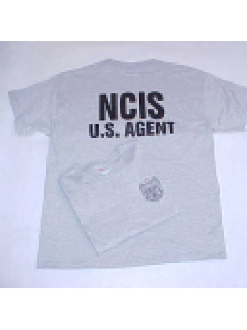 NCIS, GREY SHIRT W/NCIS US AGENT ON BACK IN BLACK INK, 126405