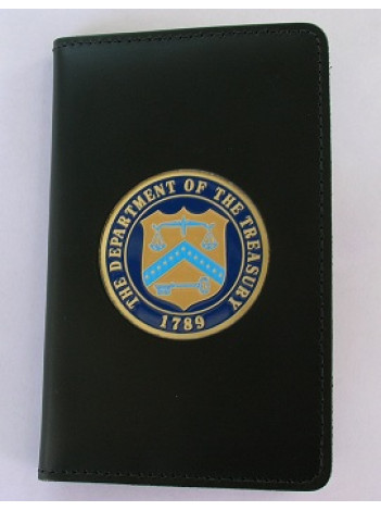 DEPT. OF TREASURY CREDENTIAL CASE WITH TREASURY MEDALLION