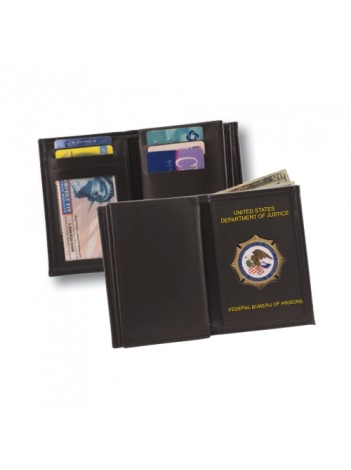 BOP BADGE WALLET WITH MEDALLION 125-A IMPRINTED