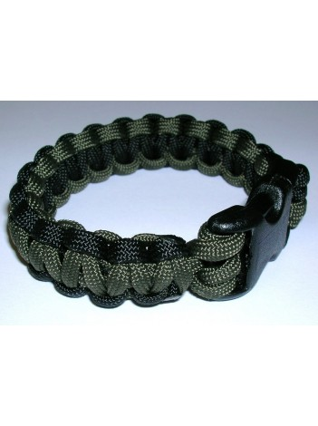 PARACORD SURVIVAL BRACELET W/ HIDDEN HANDCUFF KEY