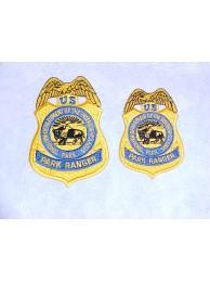 NPS, PARK RANGER BADGE PATCH, GOLD