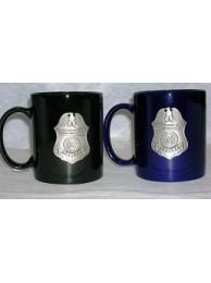 CBP COFFEE MUG WITH PEWTER BADGE
